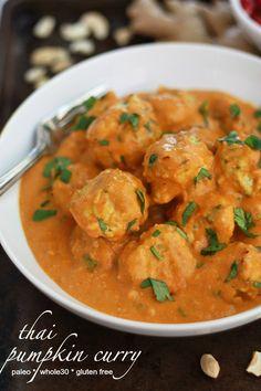Thai Curry Chicken Meatballs (GF, DF, P, Whole30)