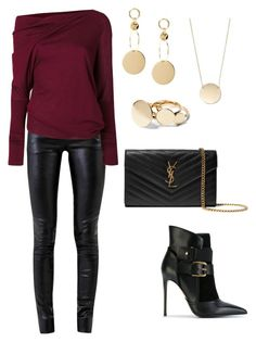 """Night Out Outfits"" by carol-noubar on Polyvore featuring Helmut Lang, Tom Ford, Yves Saint Laurent and Balmain"