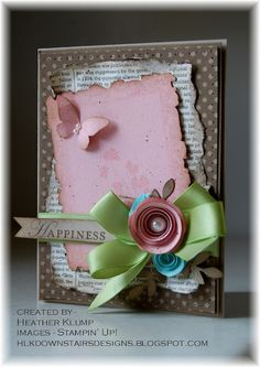 Stampin' Up!  Heather Klump at Downstairs Designs: Happiness (CC377)