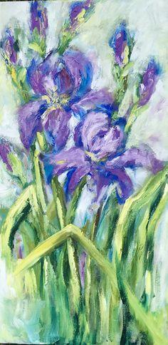Iris im Garten Ölgemälde