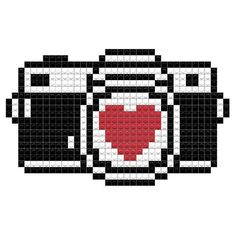 Few families would consider leaving home for a vacation these days without reliable, high-quality digital imaging equipment-whether it's a camera or a Graph Paper Drawings, Graph Paper Art, Melty Bead Patterns, Perler Patterns, Diy Perler Beads, Perler Bead Art, Pixel Pattern, Pattern Art, Minecraft Pixel Art