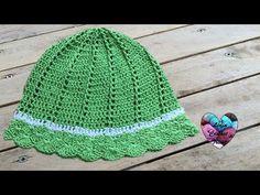 Chapeau de soleil crochet / Sombrero de sol tejido a crochet - YouTube
