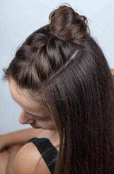 quick hairstyles for long hair, dark brown hair color, half . - makeup secrets - quick hairstyles for long hair, hair color dark brown, half … brown color - Half Braided Hairstyles, Fast Hairstyles, Braided Hairstyles Tutorials, Summer Hairstyles, Dark Brown Hairstyles, Braided Hair Tutorials, Hairstyles For Girls, French Hairstyles, Stylish Hairstyles