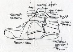 air raid drawing, 1991 by tinker hatfield, interview w/designboom