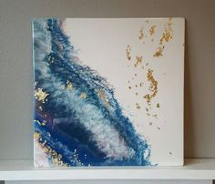 Original Abstract Resin Art | Gold Leaf | Resin Painting | Fine Art | Contemporary | Wall Decor | Modern | Home Design | Epoxy Resin | Sale by Kaleidaflow on Etsy https://www.etsy.com/listing/488739124/original-abstract-resin-art-gold-leaf