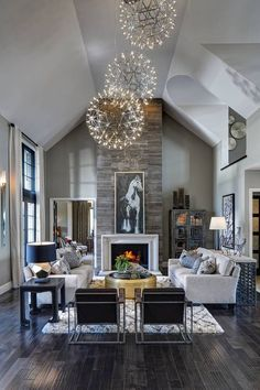10 Contemporary Living Room Ideas That Will Delight You | Contemporary Living…Like the stone work and the floors
