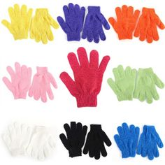 awesome Durable Bath Shower Massager Exfoliating Gloves Body Skin Scrubber Cleaning B22 - For Sale