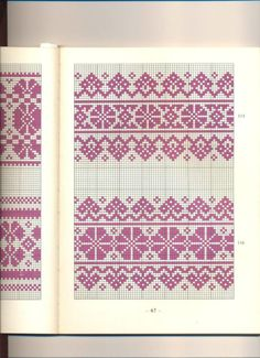 It Was A Work of Craft — Vintage Hungarian Pantterns Somogyi. Fair Isle Knitting Patterns, Fair Isle Pattern, Knitting Charts, Knitting Stitches, Cross Stitch Borders, Cross Stitch Designs, Cross Stitch Patterns, Palestinian Embroidery, Crochet Chart