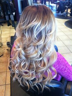 Big loose curls... If I had time I would do my hair like this everyday!