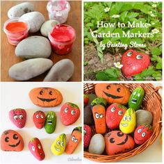 DIY Creative Garden Markers by Painting Stones