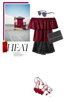 """""""Off-shoulders"""" by stellina-from-the-italian-glam ❤ liked on Polyvore featuring shorts, flats, summerstyle, ruffles and offshoulders"""