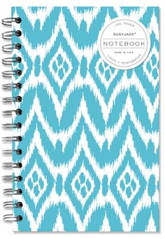 Turqouise Ikat notebook