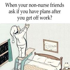 The answer is yes! Im going to perfect my swan dive!😄 #Nursing #Funny #Memes #RN #Nurselife #Nurse #Friends #Sleep #plans #Healthcare #Wednesday
