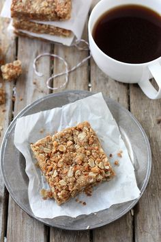 Coconut Oatmeal Bars by @Annalise Furman Furman (Completely Delicious)