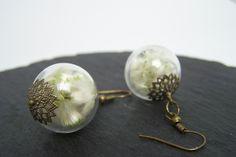 Blüten-Schmuck - Glas-Ohrhänger *echte Blüten~Weidenkätzchen* - ein Designerstück von Die-kleine-Wunderkiste bei DaWanda