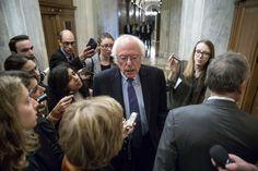 In this Nov. 16, 2016 file photo, Sen. Bernie Sanders, I-Vt. speaks to reporters on Capitol Hill in Washington. (Andrew Harnik AP)