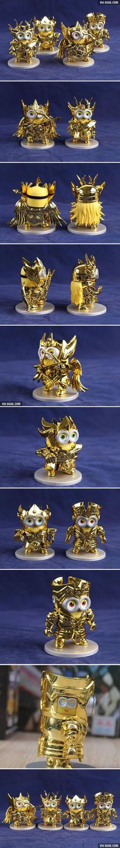 Minions Cosplay As Saint Seiya's Gold Saints