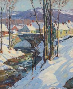 """Winter Landscape,"" Aldro Thompson Hibbard, oil on canvas, 18 x 15"", private collection."