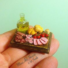 Miniature food composition от Miniarthouse на Etsy