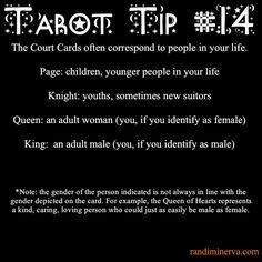 tarot tip: court cards as people