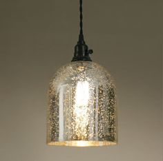 Good Montreat Hanging Mercury Glass Pendant Light Plug In Light Nice | EBay Design Inspirations