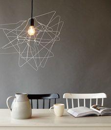 LAMPE AMPOULE PLUS FILS DE FER
