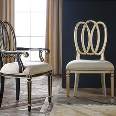 "Milan Dining Chair, $737, 24""w x 21""d x 40.25""h"