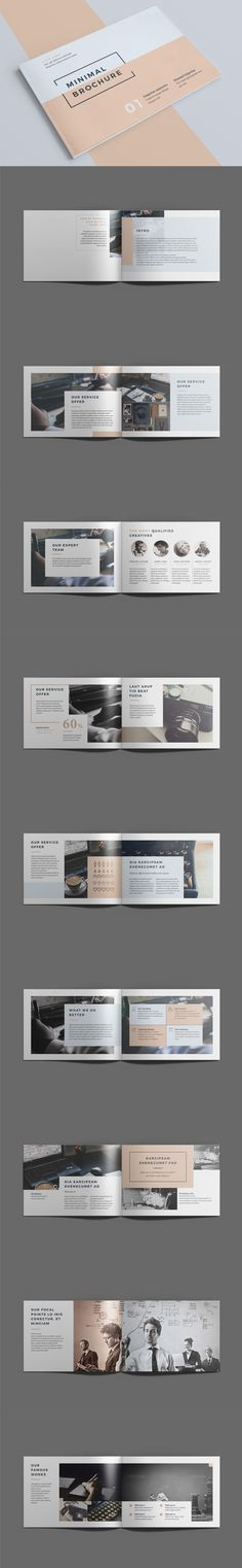 Minimal Brochure 18 pages A5 Template InDesign INDD