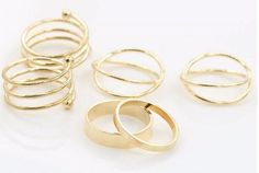 Product Name: Gold Plated Stacking Mid Finger Ring Set Model Number; C1822 Materials Used: Zinc Alloy Colors Available: Gold or Silver Size Information: 1.6cm / 1.7cm / 1.8cm  Things to remember: 1. Please remember that different computers will display colors slightly differently. Therefore, the color of the actual item may vary slightly from the images seen. 2. Please allow 1-2cm differences due to manual measurement. We appreciate your understanding! 3. All measurements are in…