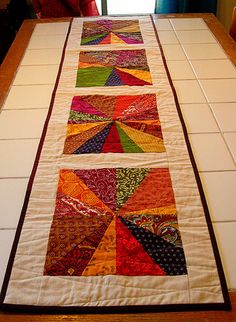 fall table runner #quilt from greenleaf goods