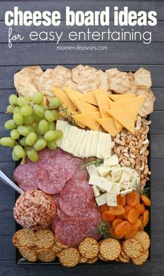 Delicious Cheese Board Ideas, perfect for easy entertaining! Delicious Cheese Board Ideas, perfect for easy entertaining! Party Platters, Food Platters, Cheese Platters, Simple Cheese Platter, Party Trays, Serving Platters, Snacks Für Party, Appetizers For Party, Appetizer Recipes
