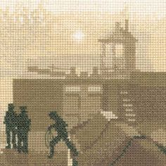 The Lock - Sepia Cross Stitch