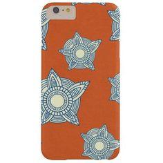 Nastiashop.com #iphone Cheap , iphone 6 plus case! Batik flowers, boho chic girly tribal orange and blue preppy Moroccan arabesque floral damask pattern iPhone 6 Plus Barely There case cover. boho chic -  batik -  iphone 6 plus