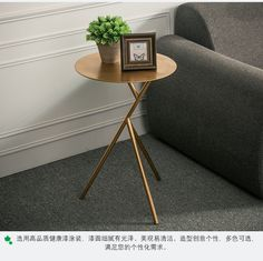 Nordic Minimalist Modern Creative Wrought Iron Coffee Table Living Room Sofa Several Additional Small Round Gold
