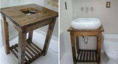 Ikea hack- bekvam kitchen cart  -bathroom vanity makeover