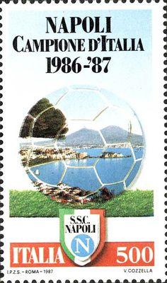 Sello: Naples National Football Champion (Italia) (National Football Champion) Mi:IT 1819 Sell Stamps, Club, Plein Air, Naples, Football Team, Postage Stamps, Champion, Sports, 1990