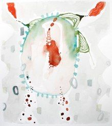 """connect 113watercolor on paper11x14""""2012SOLD"""