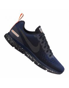 buy popular 9d615 6060e 61,26 €   Zapatillas Running Nike Air Zoom Pegasus 34 Shield Mujer  Azul  oscuro Naranja Gris oscuro Tono negro F001 10089654 . Sports Shoes