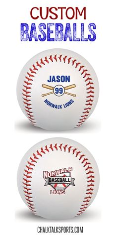 A custom baseball is a perfect gift for any occasion! Personalize with player name and player number and give as a gift your favorite baseball player can treasure forever!  Only from ChalkTalkSPORTS.com!