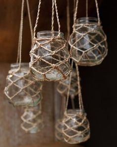 These would look super cool on a porch or in the garden, dangling rom a tree.