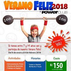 Tus hijos necesitan hacer ejercicio  traelos con los mejores @PowerClubPANAMA #VeranoFelizPowerClub !! Inscribelos YA !! CUPOS LIMITADOS