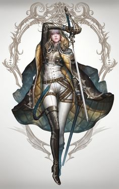 Tagged with art, fantasy, dnd, roleplay, dungeons and dragons; Fantasy Females (various artists) Fantasy Warrior, Fantasy Girl, Fantasy Women, Fantasy Rpg, Medieval Fantasy, Fantasy Sword, Woman Warrior, Female Character Design, Character Design Inspiration