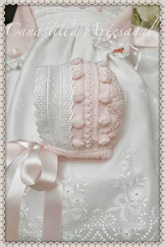 Baby Knitting, Crochet Baby, Knit Crochet, Baby Patterns, Knitting Patterns, Baby Bonnets, Christening Gowns, Heirloom Sewing, Baby Boutique