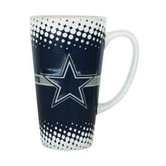 NFL Dallas Cowboys 16-Ounce Sculpted Latte Mug, Blue by Boelter. $15.99. Sculpted Football design. ceramic. Officially licensed by National Football League. 16 ounce capacity. Team spirit starts with the first cup of coffee, tea, or hot chocolate! Drink your favorite beverage with a beautifully sculpted ceramic Latte mug from Boelter Brands. Decorated with bright and colorful team graphics. Sculpted designs are sure to catch the eye of those at the breakfast tab...