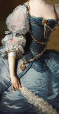 Thomas Hudson (1701–1779) Lady Oxenden circa 1755 Detail.