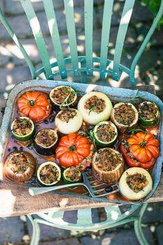 Gemüse mit pikanter Füllung | http://eatsmarter.de/rezepte/gemuese-mit-pikanter-fuellung