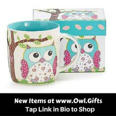 TAP LINK IN BIO TO SHOP our new arrivals at www.owl.gifts. Cute owl coffee mug phone cases temporary tattoos and more! .  #Owl #owls