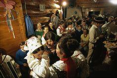 A traditional Polish wedding celebration in the Tatra Mountains. Tatra Mountains, Poland.