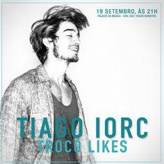 Está sabendo que o Tiago Iorc fará show em Goiânia neste sábado, às 21h, no Palácio da Música? Veja no site www.arrozdefyesta.net como garantir o seu ingresso!