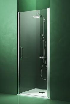 Arblu - DEDALO NICCHIA / 1 ANTA BATTENTE: Parete doccia senza telaio e con cerniera integrata sul profilo H. 200 cm / Cristallo temperato sp. 6 mm